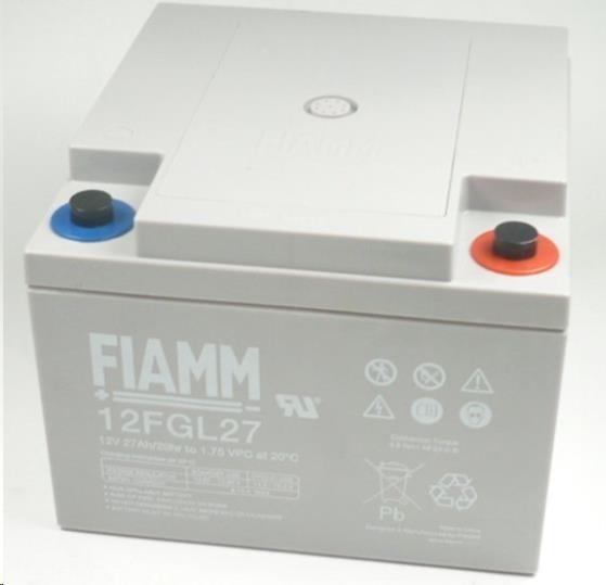 Baterie - Fiamm 12 FGL27 (12V/27Ah) SLA baterie, životnost 10let