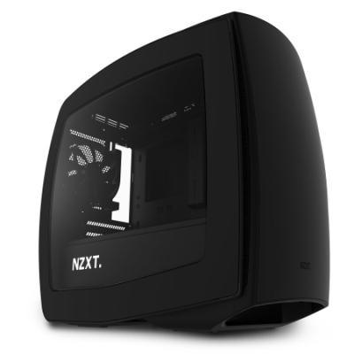 NZXT skříň MANTA / mini-ITX / bez zdroje / průhledná bočnice / černá