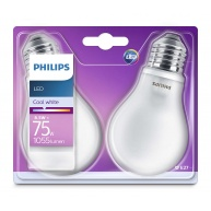 PHILIPS LED žárovka klasická A60 230V 8,5W E27 noDIM Matná 1055lm 4000K Sklo A++ 15000h (Blistr 2ks)