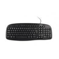 CRONO multimediální klávesnice CK2108 CZ+SK, USB+PS/2, Black