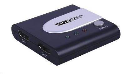 PREMIUMCORD HDMI splitter 1 - 2 Port mini (rozbočovač)