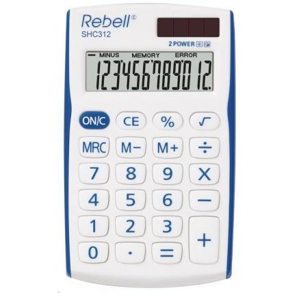 REBELL kalkulačka - SHC312 BL - modrá