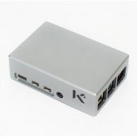 Hliníková krabička KKSB pro Raspberry Pi 4 s pasivním chladičem, šedá