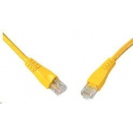 Solarix Patch kabel CAT5E UTP PVC 1m žlutý snag-proof C5E-114YE-1MB