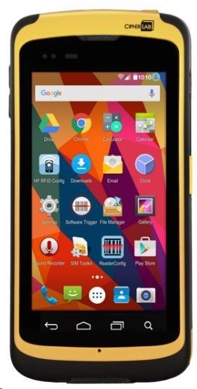 CipherLab RS50 Odolný Smartphone, Android, dlouhý 2D, WiFi dual band, WPAN, WWAN - 3G/LTE, RFID, NFC, bat 2X, USB