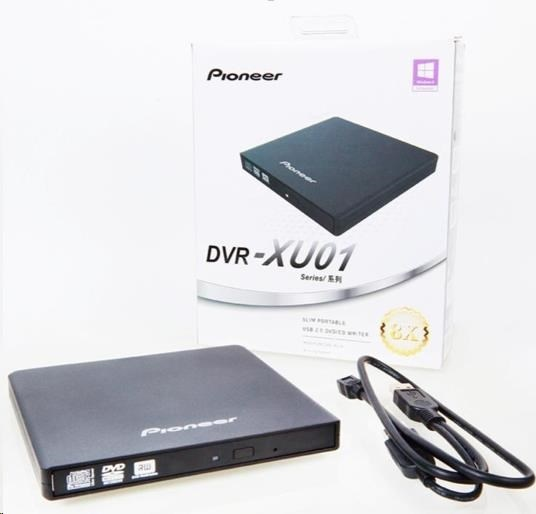 PIONEER  externí mechanika DVD-RW Rewriter Black BULK (DVR-XU01T)