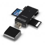 AXAGON - CRE-D4B externí HANDY čtečka 4-slot SD/MicroSD/MS/M2, černá