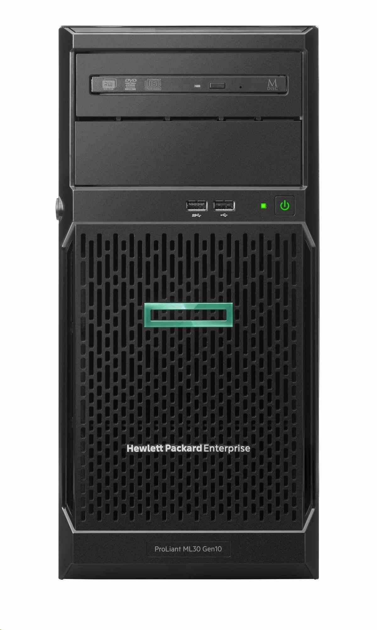 HPE PL ML30G10 E-2124 (3.3G/4C/8M/2666) 8G S100i 4LFF NHP 350Wnrps iLo noDVD NBD311