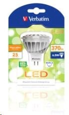VERBATIM LED žárovka,LED MR16 GU5.3 6.5W 3000K WW 370 LM 35 Degree
