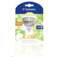 VERBATIM LED žárovka,LED MR16 GU5.3 6.5W 3000K WW 370 LM 35 Degree