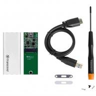 TRANSCEND CM42S M.2 2242 to USB3.1 upgrade kit, Silver