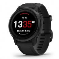 Garmin GPS sportovní hodinky fenix6S Glass, Black/Black Band (MAP/Music)