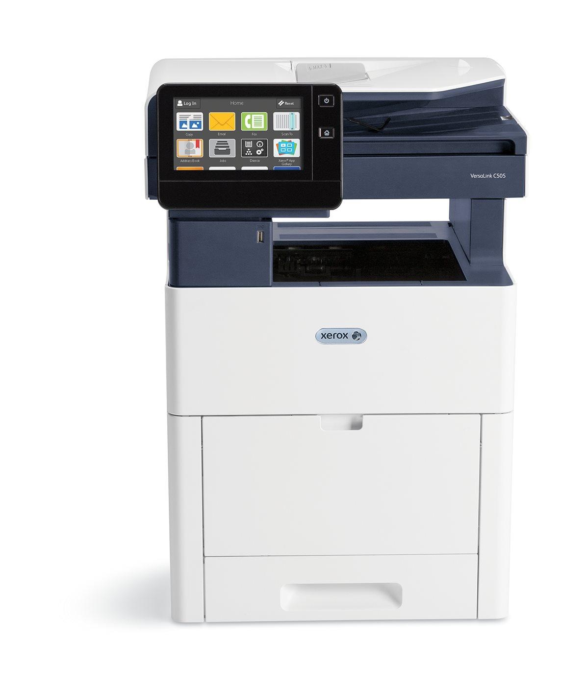 Xerox VersaLink C505X, barevná laser. multifunkce, A4, 43ppm, USB/ Ethernet, 4GB, DUPLEX, DADF, FAX