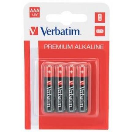 VERBATIM Alkalické baterie AAA, 4 PACK , LR3