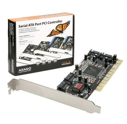 AXAGON PCIS-50, PCI řadič 4x int.SATA RAID 0/1/5/10 SI