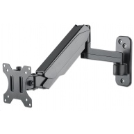 "Manhattan Wall Mount, Single gas-spring jointed arm, for one 17"" to 32"" monitor"