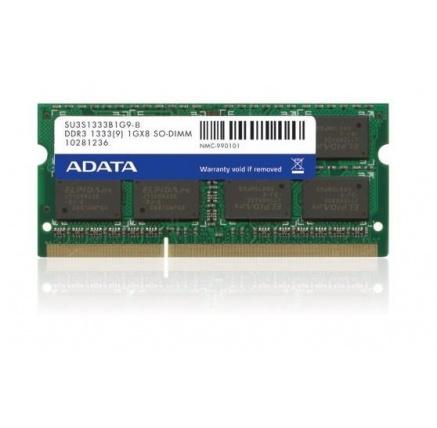 SODIMM DDR3 4GB 1333MHz CL9 ADATA memory, 512x8, Single