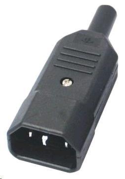 PREMIUMCORD Konektor napájecí 230V na kabel (samec, IEC C14)