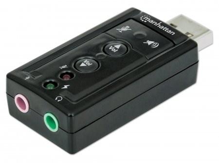 MANHATTAN Adaptér z USB 2.0 na 3D 7.1 Sound Adapter