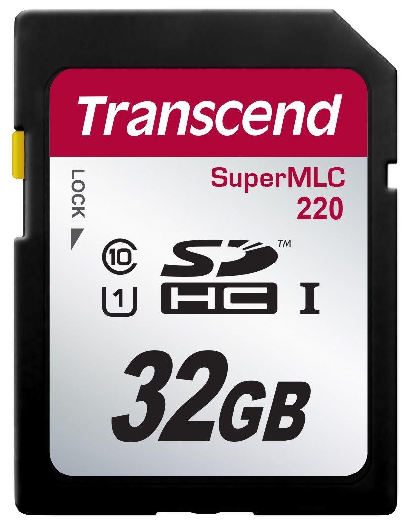 TRANSCEND Industrial SDHC220 UHS-I U1 Card 32GB (Super MLC)