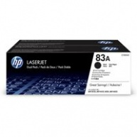 HP 83A Black  2-pack LJ Toner Cart, 2 x  str, CF283AD