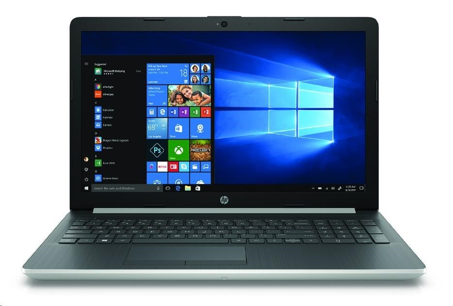 "NTB HP Laptop 15-da1006nc; 15.6"" SVA AG FHD; i5-8265U, 8GB DDR4; 1TB/5400; DVD; GeF MX130-4GB; USB3.1; Win10 - silver"