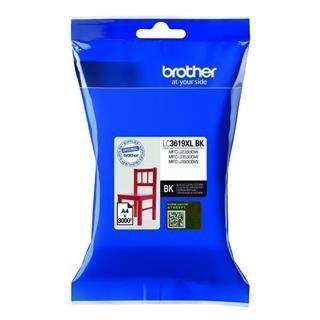 BROTHER INK LC-3619XLBK černá velká - 2800stran, J2330, J3530, J3930