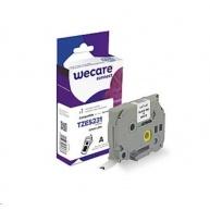 WECARE páska pro BROTHER TZES231, Black/White, 12mm x 8m
