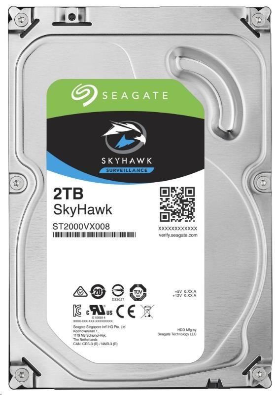 SEAGATE HDD SKYHAWK (SURVEILLANCE) 2TB SATAIII/600 5900RPM, 64MB cache
