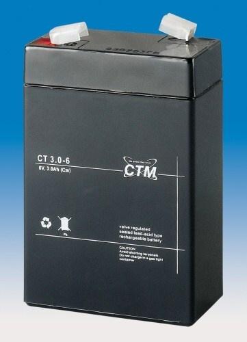 Baterie - CTM CT 6-3 (6V/3Ah - Faston 187)