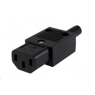 PREMIUMCORD Konektor napájecí 230V na kabel (samice, IEC C13)