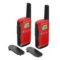 Motorola vysílačka TLKR T42 (2 ks, dosah až 4 km), červená