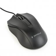 GEMBIRD myš MUS-3B-01, drátová, optická, 1000 dpi, USB, černá