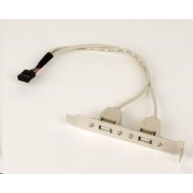GEMBIRD Přídavné porty pro MB, záslepka 2x USB2.0 (bracket)