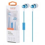 Aligator stereo sluchátka AE01 s mikrofonem, 3,5 mm jack, modrá