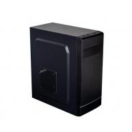 EUROCASE skříň ML X301 EVO black, micro tower, 1x USB 3.0, 2x USB 1.0, bez zdroje