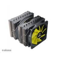 AKASA Chladič CPU VENOM MEDUSA pro patice LGA 775,115x, 1366, 2011, Socket AMx, FMx, měděné jádro, 145mm PWM ventilátor