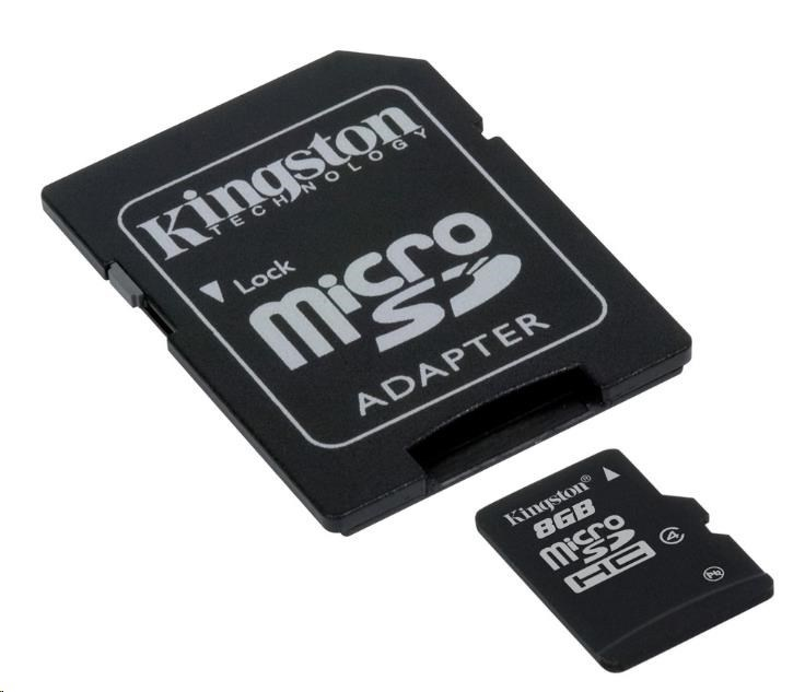 Kingston 8GB Micro SecureDigital (SDHC) Card, Class 4