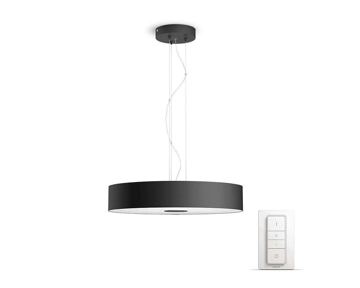 PHILIPS Fair Závěsné svítidlo, Hue White ambiance, 230V, 1x39W integ.LED, Černá