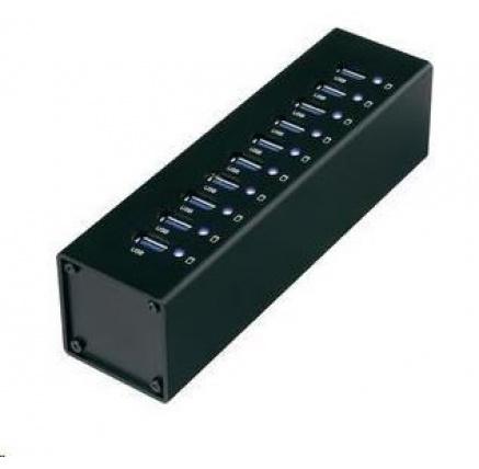 CONRAD USB 3.0 hub s adaptérem, 10-port