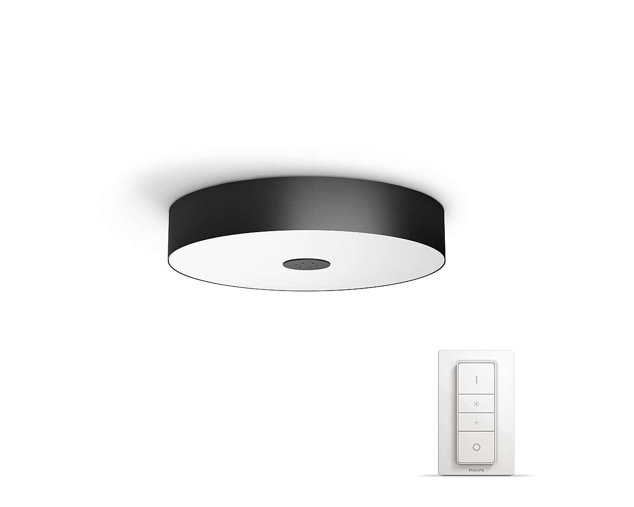 PHILIPS Fair Stropní svítidlo, Hue White ambiance, 230V, 1x39W integ.LED, Černá