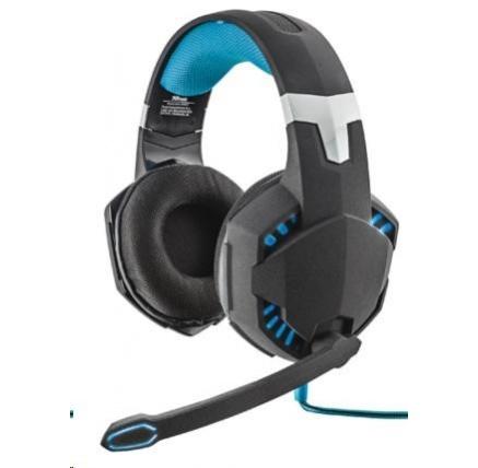 TRUST Sluchátka s mikrofonem GXT 363 7.1 Bass Vibration Headset - černo/modré