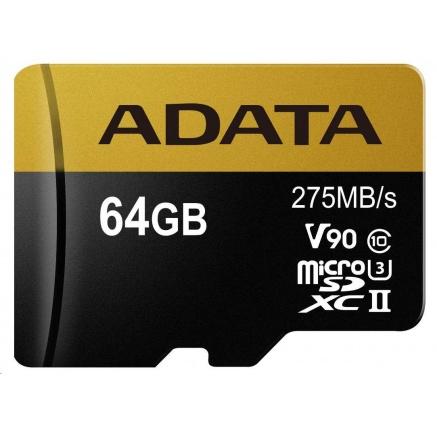 ADATA Micro SDXC karta 64GB UHS-I U3