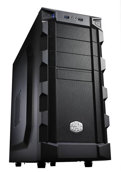 case Cooler Master miditower K280, ATX, black, USB3.0, bez zdroje