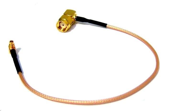 Pigtail MMCX na R-SMA male - pravý úhel - 25cm - RG316