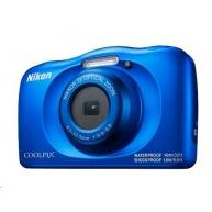 NIKON kompakt Coolpix W150, 13MPix, 3x zoom - modrý - Backpack kit