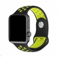 eses sportovní řemínek 42mm černý/žlutý pro apple watch