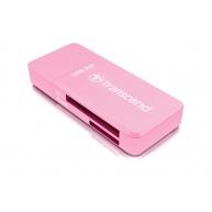 TRANSCEND Card Reader F5, USB 3.0, Red