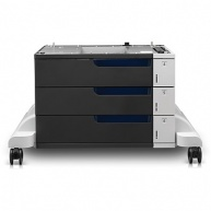 HP 3x500-Sheet Paper Feeder and Stand provides 1500 sheet input capacity.