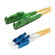 Duplexní patch kabel SM 9/125, OS2, E2000(APC)-LC(PC), LS0H, 1m